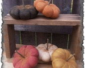 ePattern Primitive Grungy Fall Pumpkin Gourds Sewing Pattern PDF File Instant Download!