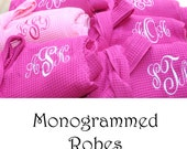 8 Personalized Bridesmaid Robe Set of 8 ,Monogrammed Robe, Waffle Robe, Personalized Bridesmaid Gifts