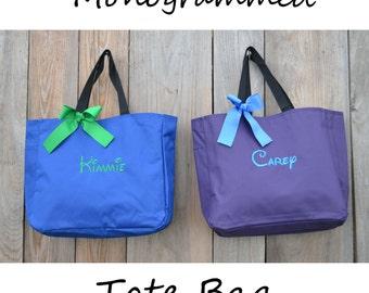 8 Personalized Bridesmaid Gift Tote Bag, Wedding Day Totes, Maid Of Honor Gifts, Bridesmaids Bag, Monogrammed Tote Bag, Bridesmaid Tote