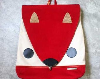 Squirrel Diaper Laptop Backpack - Squirrel DIaper Bag - Unisex Laptop Macbook Backpack - Nutkin The Squirrel BackPack - Burgundy Color