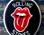 Rolling Stones Toilet Seat Hand Painted Debbie Is Adopted Red Lips Dad Grad Gift