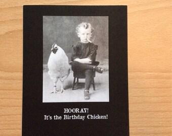 Greetings from Creepsville Birthday  Card: Birthday Chicken