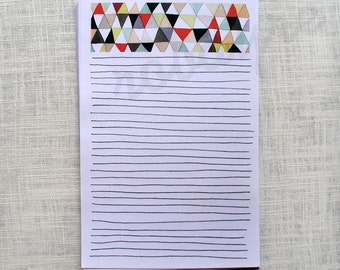 lined stationery note paper geometric art pattern