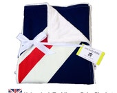 UNION JACK Modern Blue and Red Minky Baby or Toddler Blanket