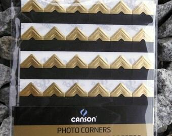 Gold photo corners self-adhesive acid-free  252 ct.