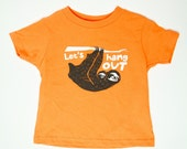 Sloth Toddler T-Shirt, Let's Hang Out Kids - Unisex