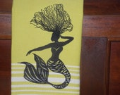 Natural Hair Mermaid Kitchen Towel