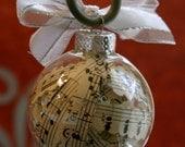 Sheet Music Ornament / Music Christmas Ornament / Vintage Sheet Music / Music Notes / Musician Gift / Music Teacher Gift / Holiday Ornament