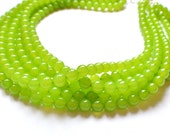 The Michelle- Lime Green Czech Glass Statement Necklace