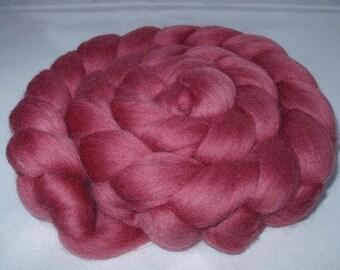 ROSEWOOD, merino wool roving, 20 micron, spinning fiber, felting wool, dolls hair, dreads, merino roving, pink, 3.5oz, 100g, 100% wool