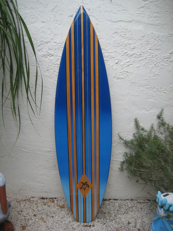 Wooden decorative surfboard wall surf art for home hotel for Surf decoration