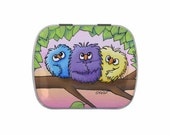 Birds with Candy  or Yorkie Terrier dog with Mints Tin