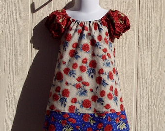 American Roses Take 2 Peasant Dress Size 12 Months
