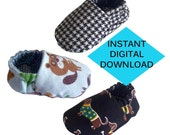 Reversible Baby Shoes Sewing Pattern- PDF tutorial