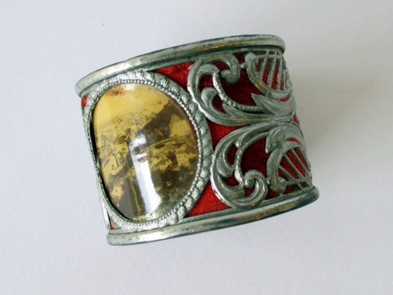 antique silver napkin ring unique 1910s souvenir by