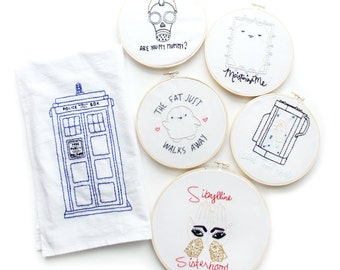Doctor Who • Embroidery Patterns