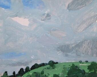 Mount Pleasant, Original Landscape Painting on Paper, Stooshinoff