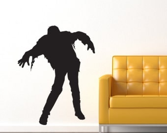 Zombie Vinyl Wall Decal Design One