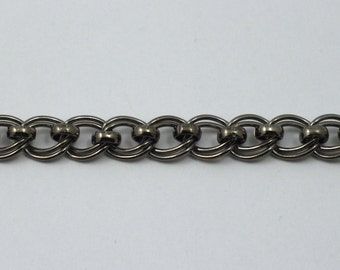 Gunmetal, 7mm x 6mm Double Oval Chain #CC169