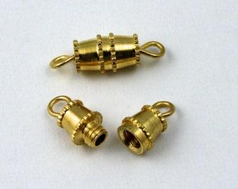16mm Gold Barrel Clasp #CLA001