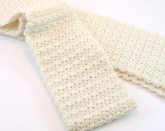 Crochet Scarf,  Made to Order, Textured Scarf, Warm Scarf, Winter Scarf, Custom Scarf, Handmade Scarf
