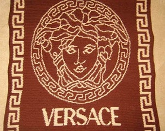 Versace - Hand Made Crocheted Afghan - BRAND NEW