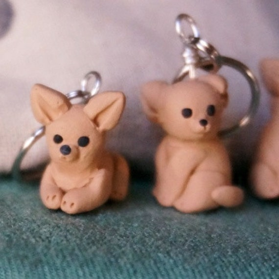 Chihuahua Stitch Markers (set of 4)