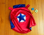 Custom Child Cape by Little Hero Cape - Red and Blue - Superhero Star Design