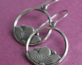 Lotus Blossom Earrings - Silver Plated - Surgical Steel Earwires