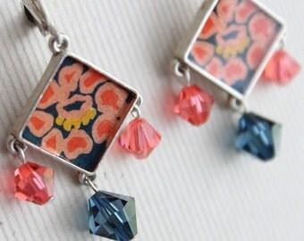 Chloe Earrings - Sterling Silver - Swarovski Beads