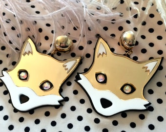 Mr. Fox Earrings