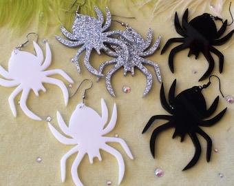 Big Acrylic Spider Earrings