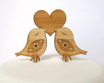 Love Birds Cake Topper. Bird Cake Topper. Wedding Cake Topper. Cake Topper. Rustic Cake Topper. Wood Cake Topper. Wedding Cake Ornament.