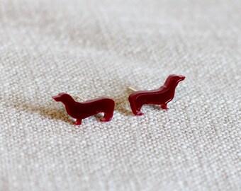 Dachshund Earrings - Sausage Dog Earrings - dachshund studs - dog earrings - dog jewellery - dachshund jewellery - dog gift - dog jewelry