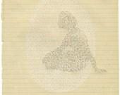 muted/nine - original drawing by olivia jeffries