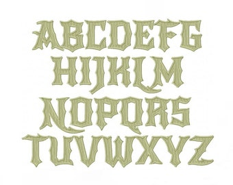 Rock N Roll Embroidery Font Machine Embroidery Monogram Font