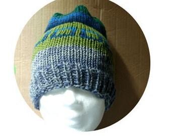 Men knitting hat pattern, hat pattern, slouchy hat pattern, simple hat pattern, knit hat tutorial, unisex hat pattern, women hat pattern