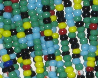 SALE One Hank 11/0 Czech Seed Beads Multicolor Beading Mix 38