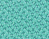 SALE - Color Me Happy - Cluster Drops in Teal: sku 10824-13 cotton quilting fabric by V and Co. for Moda Fabrics - 1 yard