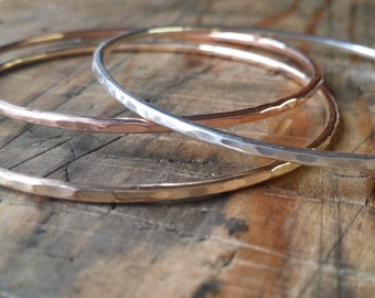 Tri-metal bangles