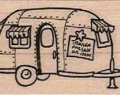 Rubber stamp shasta Trailer camper caravan   scrapbooking supplies 11184 cling stamp, unmounted or wood mounted camper
