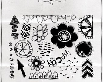 Mixed Media Essentials #1 Rubber Stamp Sheet
