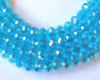 Aqua AB Crystals 8x12mm (35)