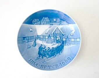 Vintage Danish Decorative Winter Plate Bing Grondahl 1969