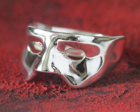 Sterling Silver Mask Ring - Sizes 10.75 and 9.5 - Any size available.