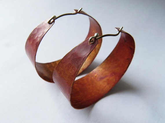Large Copper Hoops