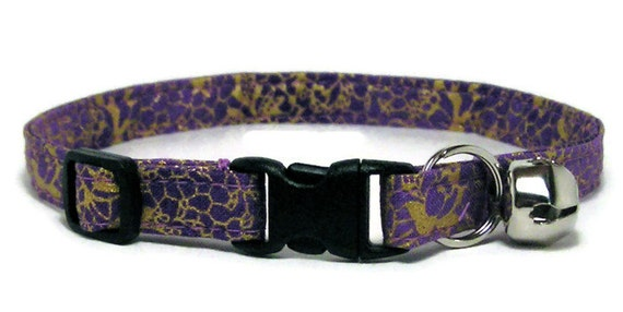 Cat Collar - Fancy Purple and Gold