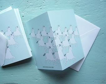 horse herd note card