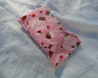 diaper and wipes nappy travel case clutch wallet pouch baby girl pink cupcakes
