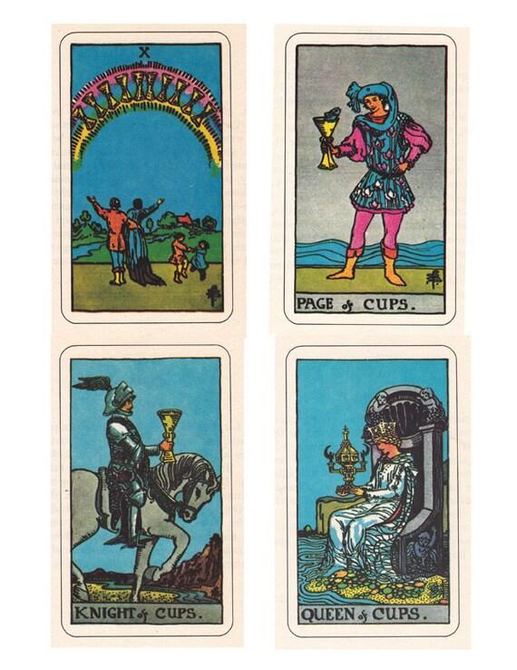 Rider Waite Smith Tarot Cards A Printable Digital Downloads